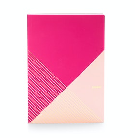 Pink + Blush Slim Criss-Cross Notebook,Pink,hi-res
