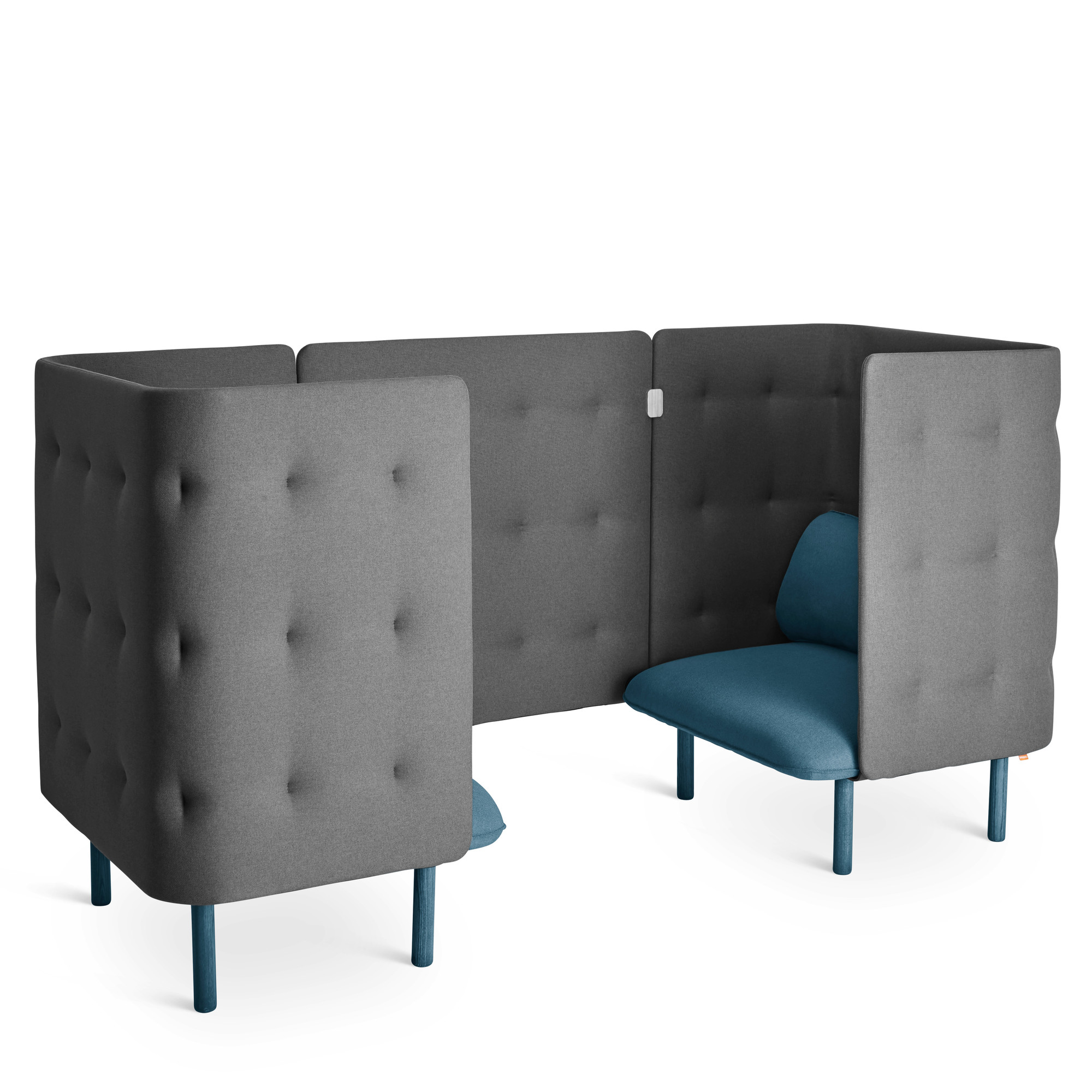Superbe Dark Blue + Dark Gray QT Chair Booth,Dark Blue,hi Res