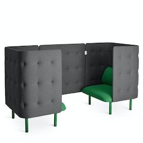 Leaf Green + Dark Gray QT Chair Booth,Leaf Green,hi-res