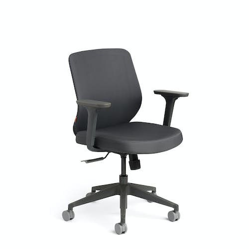 Dark Gray Max Task Chair Mid Back Charcoal Frame Hi