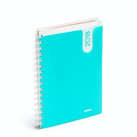 Aqua Medium 12 Month Pocket Book Planner, 2018,Aqua,hi-res