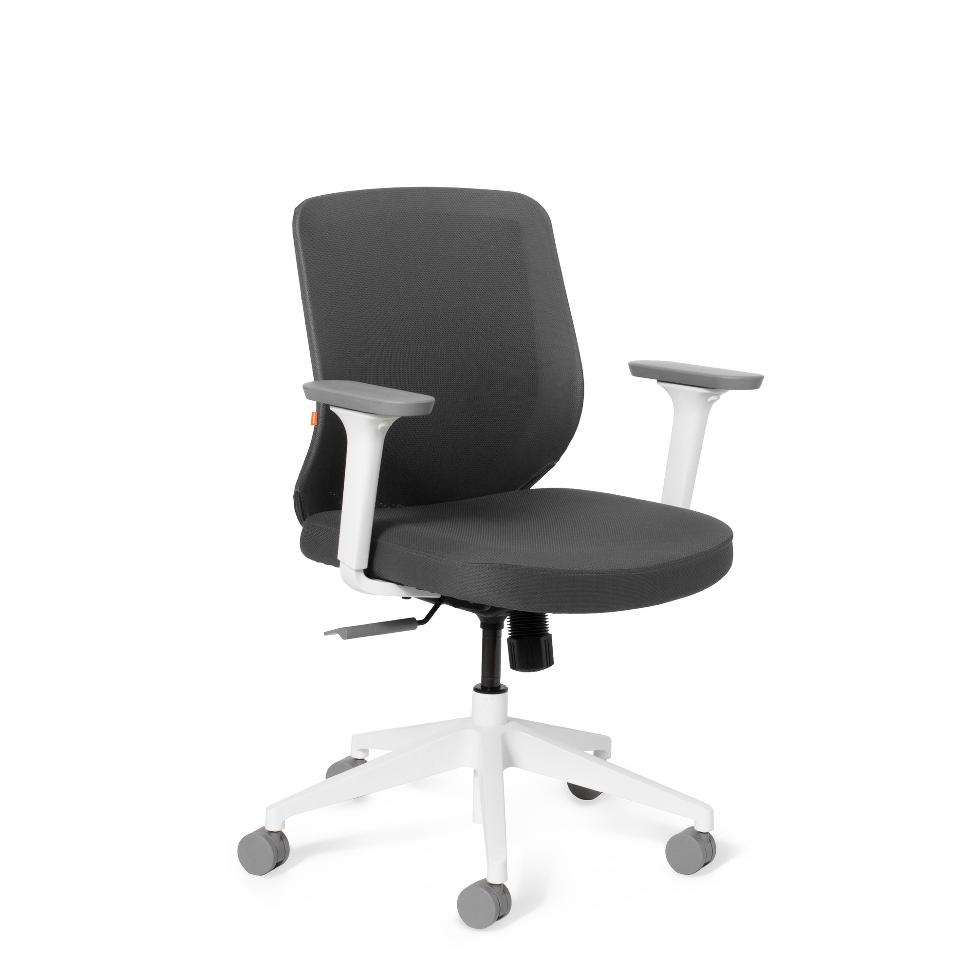 dark gray max mid back task chair office furniture poppin