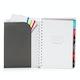 Dark Gray Medium 12 Month Pocket Book Planner, 2018,Dark Gray,hi-res