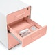 White + Blush Stow 3-Drawer File Cabinet,Blush,hi-res