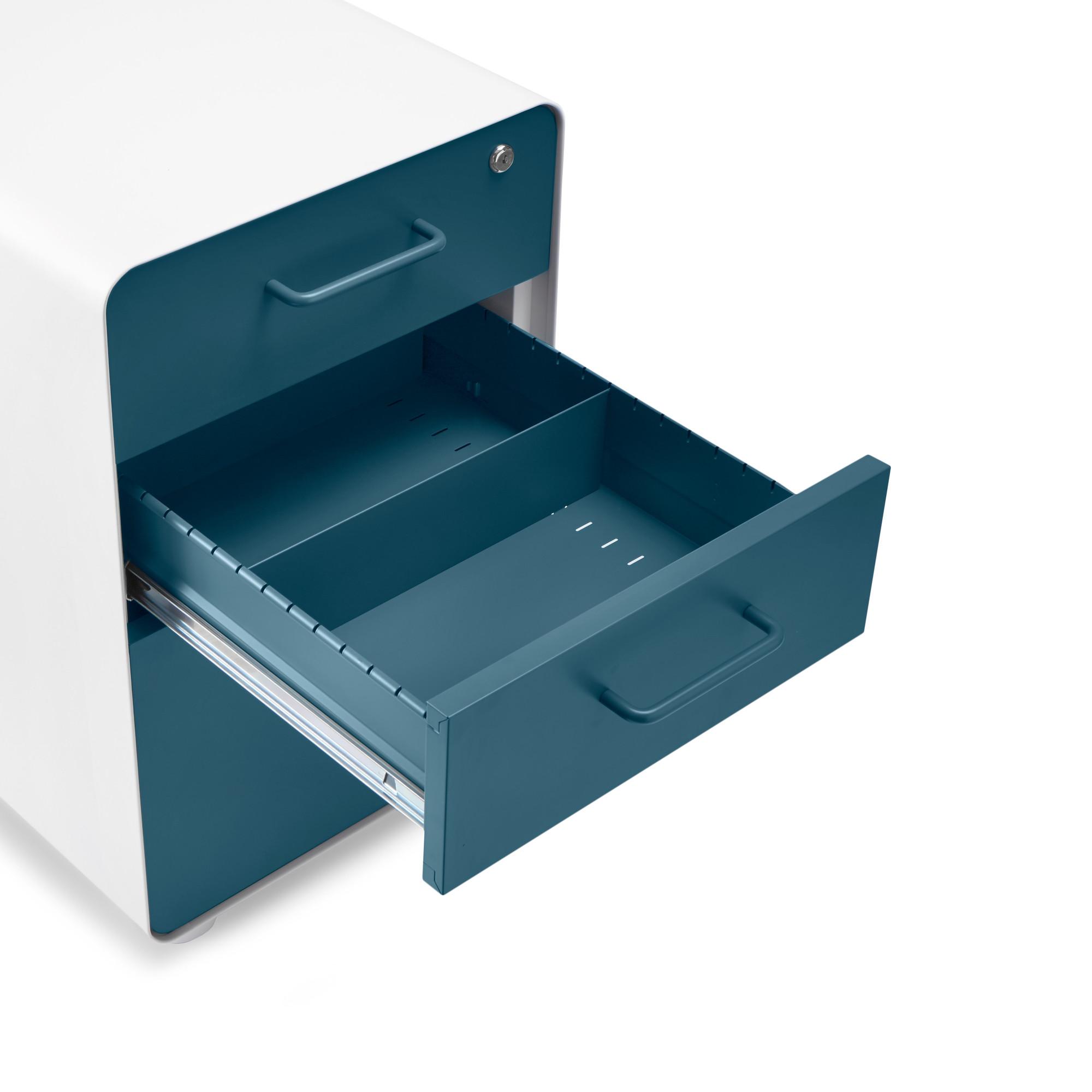 Rolling Metal Locking File Cabinets   Modern Office Furniture   Poppin
