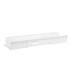 White Loft Desk Cable Hideaway,,hi-res