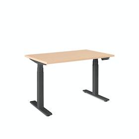 Series L Adjustable Height Single Desk, Charcoal Legs