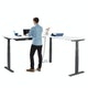 White Series L Adjustable Height Corner Desk with Charcoal Base, Right Handed,,hi-res