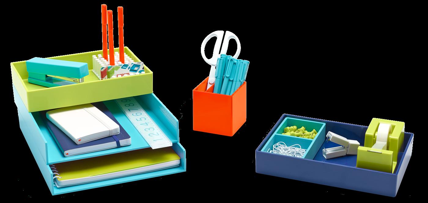 colorful desk accessories | poppin
