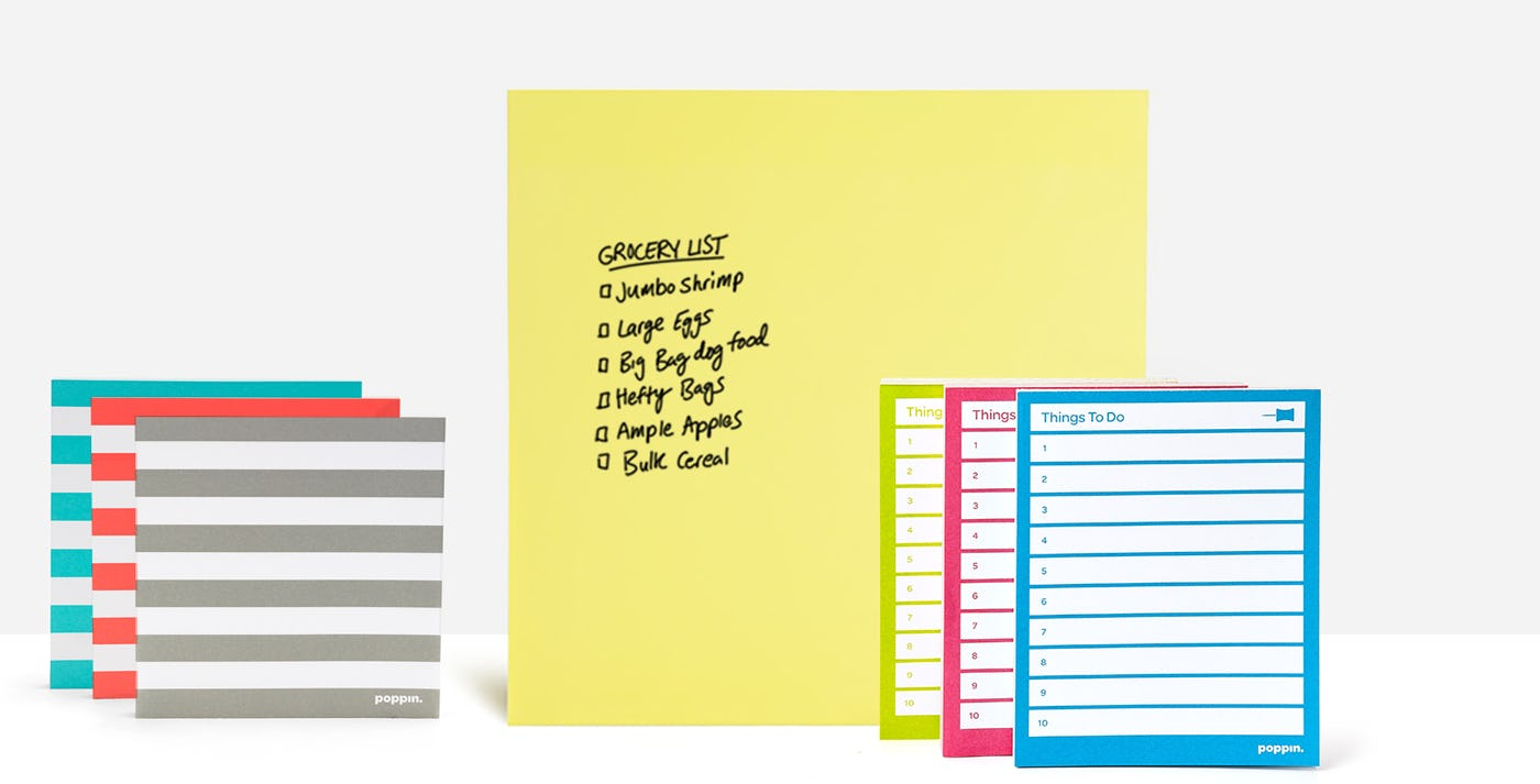 Jumbo and Striped Mobile Memos and Task Pads