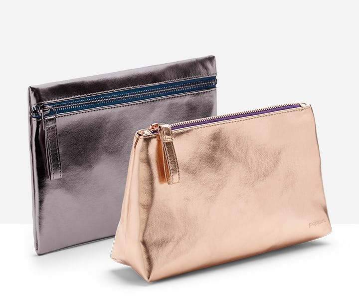 metalic accesorries pouches