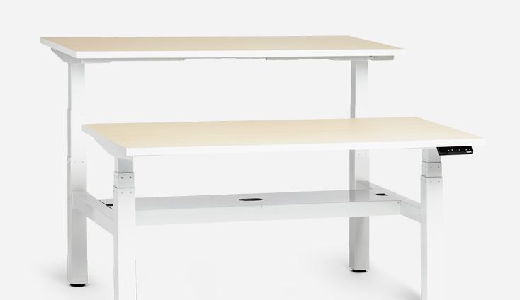 Loft Adjustable Height Double Desk