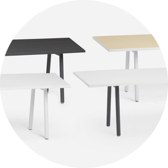 Series A Conference Table White Legs Modern Office Furniture Poppin - Series a conference table
