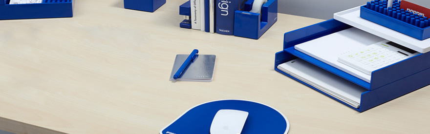 Cobalt Blue Office Supplies Poppin