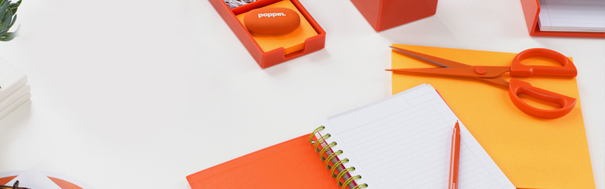 Orange Office Supplies Poppin
