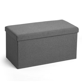 Dark Gray Box Bench