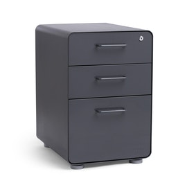 Charcoal Stow 3-Drawer File Cabinet
