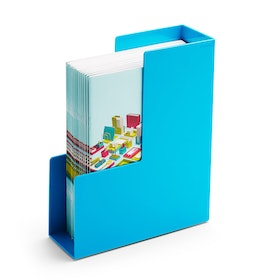 Pool Blue Magazine File Box