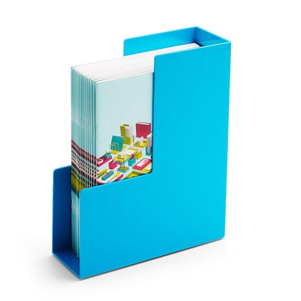 Pool Blue Magazine File Box,Pool Blue,hi-res