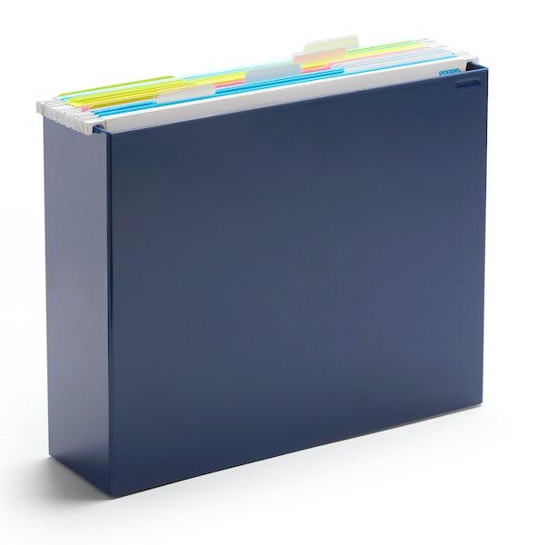 Navy File Box,Navy,hi-res
