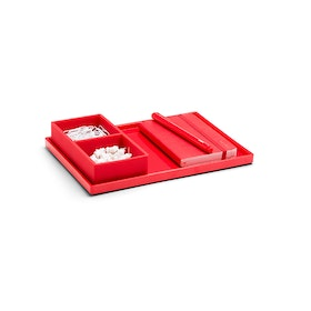 Red Medium Slim Tray