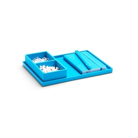 Pool Blue Medium Slim Tray,Pool Blue,hi-res
