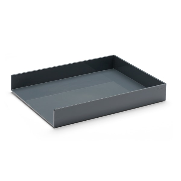 Dark Gray Single Letter Tray,Dark Gray,hi-res