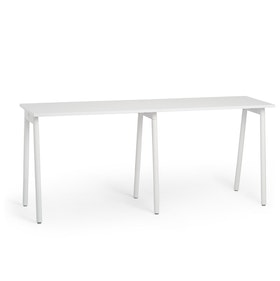 "Series A Standing Single Desk for 2, White, 47"", White Legs,White,hi-res"