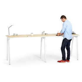 Series A Standing Single Desk for 2, White Legs