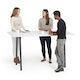 "Series A Standing Table, White, 72x36"", Charcoal Legs,White,hi-res"