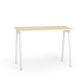 Series A Standing Single Desk for 1, White Legs