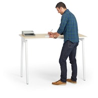 Series A Standing Single Desk for 1, White Legs,,hi-res