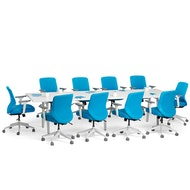 Series A Conference Table, White Legs,,hi-res