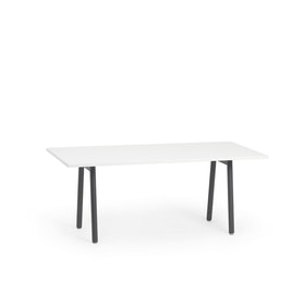 "Series A Executive Desk, White, 72"", Charcoal Legs,White,hi-res"