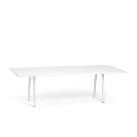 "Series A Conference Table, White, 96x42"", White Legs"