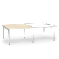 Series A Double Desk Add On, White Legs,,hi-res