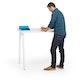 "Series A Standing Single Desk for 1, White, 47"", White Legs,White,hi-res"