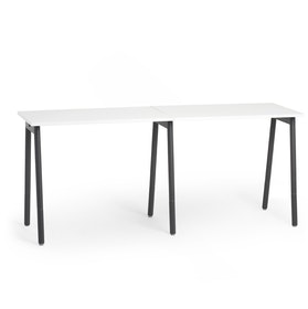 Series A Standing Single Desk for 2, Charcoal Legs