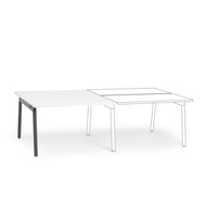Series A Double Desk Add On, Charcoal Legs,,hi-res