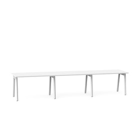 "Series A Single Desk for 3, White, 47"", White Legs,White,hi-res"