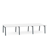 Series A Double Desk for 6, Charcoal Legs,,hi-res