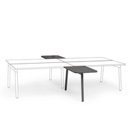 "Series A 2 Returns Add On for 57"" Double Desk, Charcoal,,hi-res"