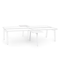 "Series A 2 Returns Add On for 57"" Double Desk, White,,hi-res"