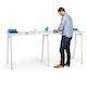 "Series A Standing Single Desk for 2, White, 47"", White Legs,White,hi-res"