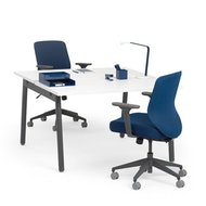 Series A Double Desk for 2, Charcoal Legs,,hi-res