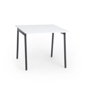 """Series A Standing Double Desk for 2, White, 47"""", Charcoal Legs,White,hi-res"""