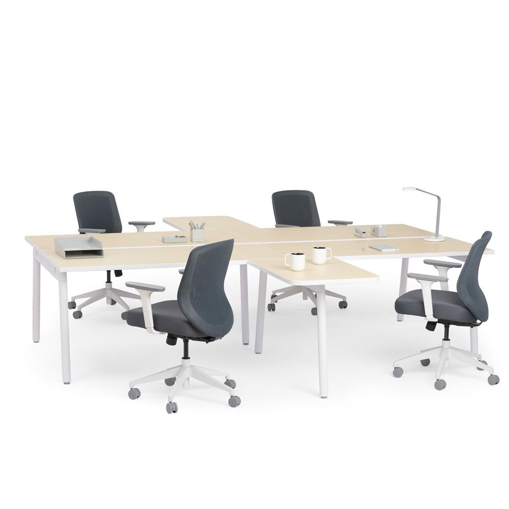 Images. White + Light Oak Series A Double Desk ...