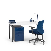 Series A Single Desk for 1, Charcoal Legs,,hi-res