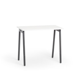 """Series A Standing Single Desk for 1, White, 47"""", Charcoal Legs,White,hi-res"""