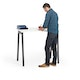 "Series A Standing Single Desk for 1, White, 47"", Charcoal Legs,White,hi-res"